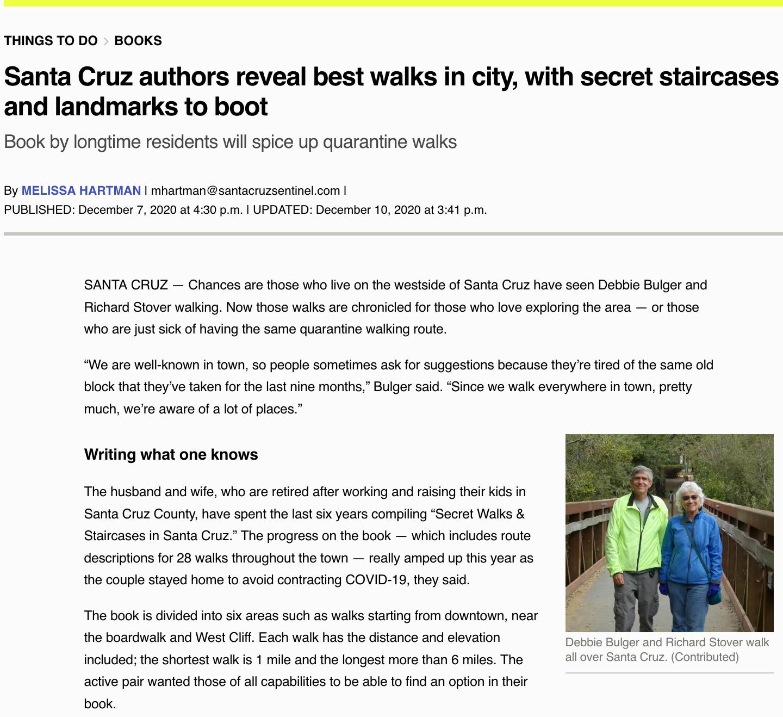 Santa Cruz Sentinel Article Dec 7 2020